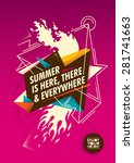 summer poster with colorful... | Shutterstock .eps vector #281741663