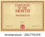 employee of the month  ... | Shutterstock .eps vector #281770193