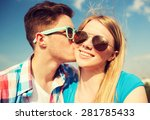 holidays  vacation  love and... | Shutterstock . vector #281785433