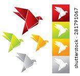 origami birds | Shutterstock . vector #281791067