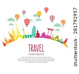 travel and tourism concept... | Shutterstock .eps vector #281792957