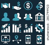 business charts and bank icons. ... | Shutterstock . vector #281799923