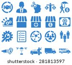 business  trade  shipment icons.... | Shutterstock .eps vector #281813597