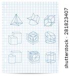 scheme of geometrical objects...   Shutterstock . vector #281823407