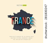 vector france map in flat... | Shutterstock .eps vector #281830247