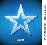 star retro light banner blue... | Shutterstock .eps vector #281833103