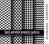 set of black and white of... | Shutterstock .eps vector #281841953