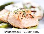 fillet of salmon. | Shutterstock . vector #281844587