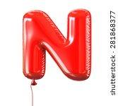 Letter N Balloon Font