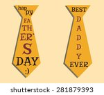 happy fathers day elements.... | Shutterstock .eps vector #281879393