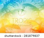 summer tropical sky sunset...