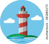 lighthouse | Shutterstock . vector #281883173