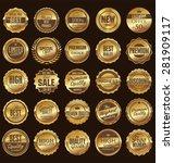 premium  quality retro vintage... | Shutterstock .eps vector #281909117
