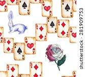 watercolor magic pattern  | Shutterstock . vector #281909753