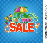 summer sale | Shutterstock .eps vector #281914877