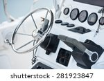 sailing yacht control wheel and ... | Shutterstock . vector #281923847
