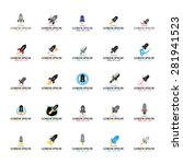 rocket icons set   isolated on... | Shutterstock .eps vector #281941523