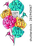 beautiful flower background art.... | Shutterstock .eps vector #281943467