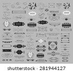 set of calligraphic elements... | Shutterstock .eps vector #281944127