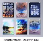 quote poster. typographical... | Shutterstock .eps vector #281944133