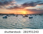 Sunset Over Poole Harbour In...