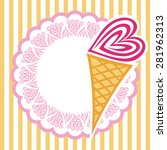 ice cream vector illustration | Shutterstock .eps vector #281962313
