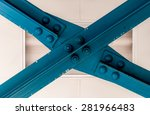 blue construction beam forming... | Shutterstock . vector #281966483