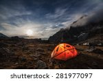 camping in the mountains. moon... | Shutterstock . vector #281977097