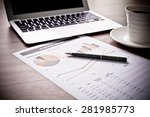 showing business and financial... | Shutterstock . vector #281985773