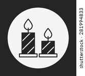 birthday candle icon | Shutterstock .eps vector #281994833