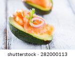 delicious appetizer of avocado...