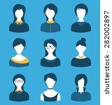 illustration set female...   Shutterstock . vector #282002897