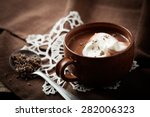hot chocolate with a hint of... | Shutterstock . vector #282006323