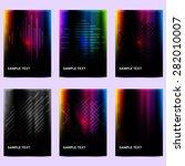 set of abstract dark backgrounds   Shutterstock .eps vector #282010007