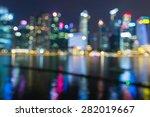 city lights night view  blur... | Shutterstock . vector #282019667