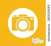 yellow flat photo camera icon   ...