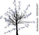 tree with mathematical... | Shutterstock .eps vector #282026447