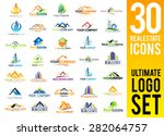 real estate logo set   creative ... | Shutterstock .eps vector #282064757