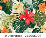 summer colorful hawaiian... | Shutterstock .eps vector #282066707