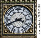 london big ben clock  detail of.