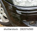 black bumper car scratched with ... | Shutterstock . vector #282076583