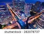bangkok business district at... | Shutterstock . vector #282078737