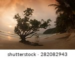 Small photo of RAYONG,THAILAND-SEPTEMBER 13 : Tourists relax and happiness on Ao Phrao beach in Ko Samet island on September 13,2013,Rayong Province in Thailand.Is also under the aegis of the national park area.