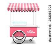 ice cream cart vector... | Shutterstock .eps vector #282088703