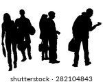 big crowds people on white... | Shutterstock . vector #282104843