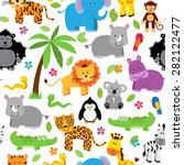 seamless  tileable jungle or... | Shutterstock .eps vector #282122477
