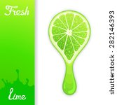 stylized half lime from which... | Shutterstock .eps vector #282146393