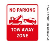 no parking sign. no parking ... | Shutterstock .eps vector #282147917