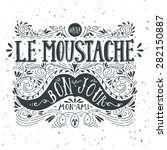 hand drawn vintage label with a ... | Shutterstock .eps vector #282150887