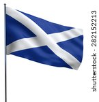 scotland flag waving image... | Shutterstock . vector #282152213